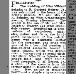 Wedding of Mildred and Gaylord