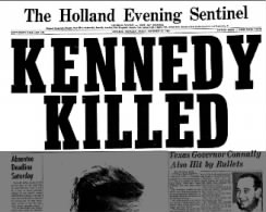 Headline Kennedy Killed