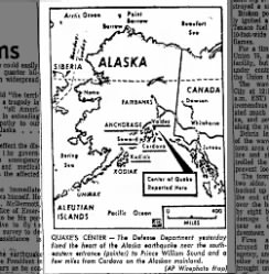 Map of Alaska Earthquake