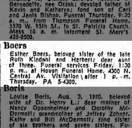 Esther Boers Obituary