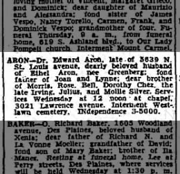 Death Notice: Dr Edward Aron