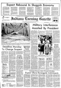 Sample Indiana Gazette front page