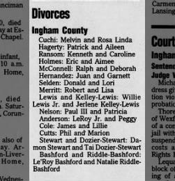 Divorce announcement 11/17/2000