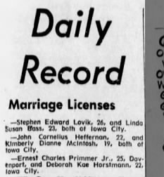 Primmer Marriage License