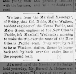 1880-04-25 The Times of Sheveport Louisiana