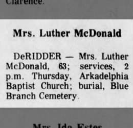 Mrs. Luther McDonald