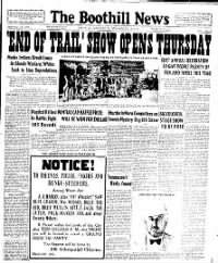 Sample The Boothill News front page