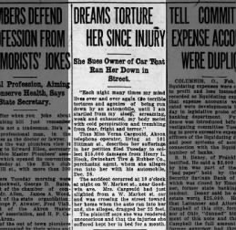 Verna Cargould Sues Driver of the Car that Hit Her The Akron Beacon Journal 9 Feb 1915 Tue