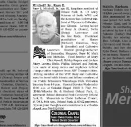 Rusy E. Mitcheff, Sr obituary