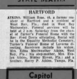 William Ross Atkins Obit