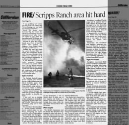 Brandy DeBatte quoted in coverage of San Bernadion fires 2003