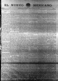 Sample El Nuevo Mexicano front page