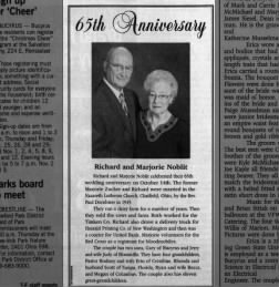 Richard and Marjorie Noblit Celebrate 65th Anniversary