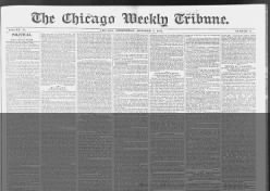 The Chicago Weekly Tribune