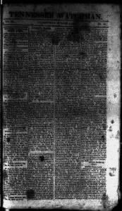 Sample Tennessee Watchman front page