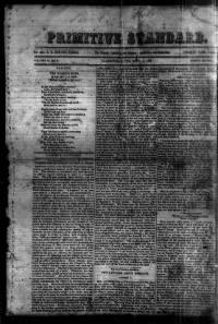 Sample Primitive Standard front page