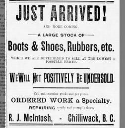 McIntosh's shoe store, Chilliwack
