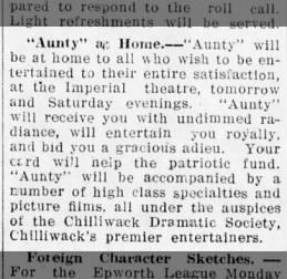 CDS Aunty at Home Dec 10 1914