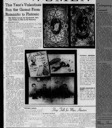 Valentine's card trends in 1947