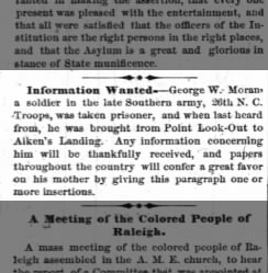 Information wanted--George W. Moran