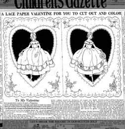 Cut-out Valentine from 1924