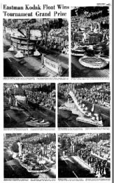 Floats from the 1967 Rose Parade