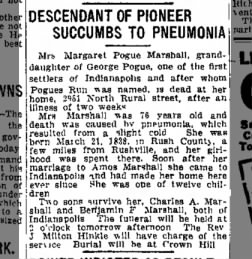 Margaret Pogue Marshall obituary