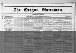 Weekly Oregon Statesman