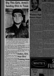 Elvis to be sent to Ft. Hood