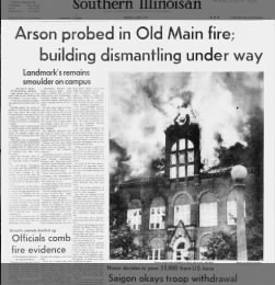 1969 fire at Southern Illinois University