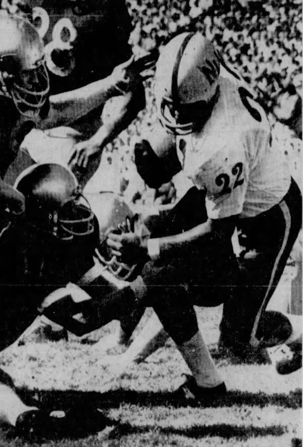 1967 Nebraska-Washington football, Ben Gregory photo