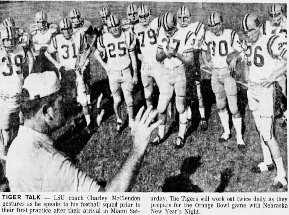 1970.12.26 LSU first Miami practice