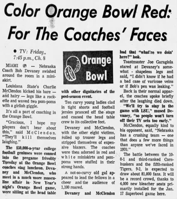 1970.12.29 Orange Bowl Stag AP story
