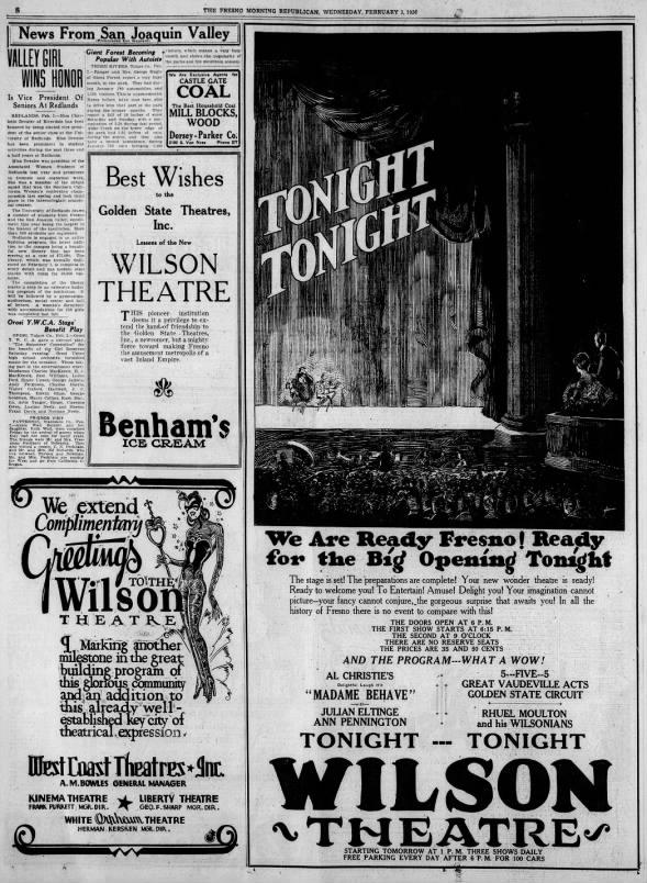 Wilson theatre opening
