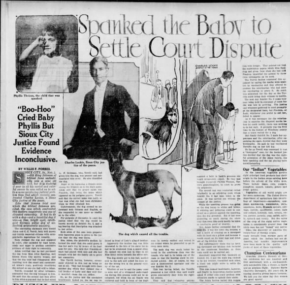 Spanked the Baby to Settle Court Dispute