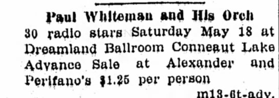 Record Argus 5/17/1935 Paul Whiteman - 1'aul AVlilteinaa and His Orch 30 radio stars...