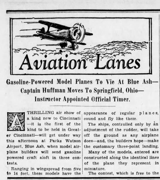 8 Nov. 1936 Model Airplanes - AviatiornMnes Gasoline-Powered Gasoline-Powered...