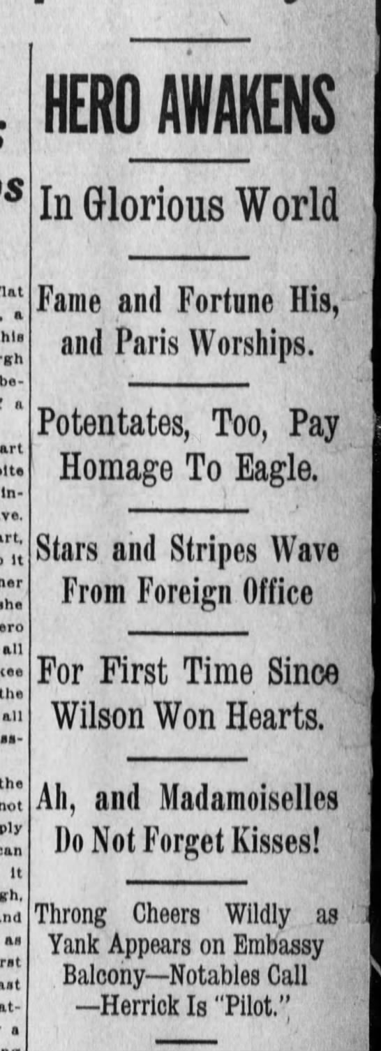 Lindbergh headlines - flat a this between a Insistence It her she...