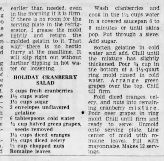 Cincinnati Enquirer, 16 November, 1966 - it earlier than needed, even in the morning if...