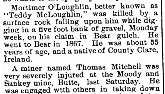 "- Mortimer O'Lougblin, better known as ""Teddy..."