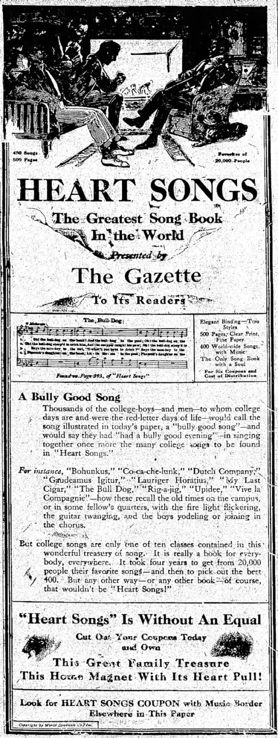 A Bully Good Song 1914