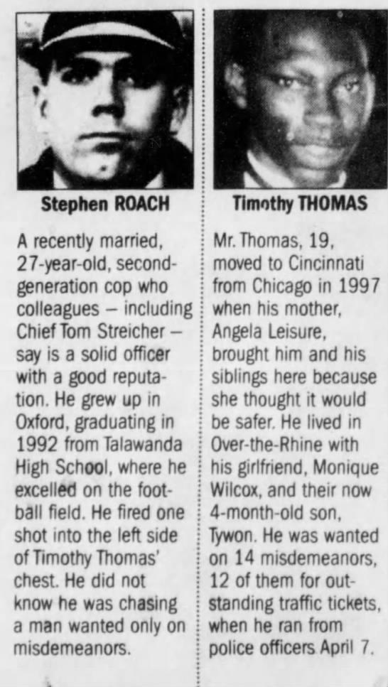 Timothy Thomas - rsr i , t- t- Stephen ROACH Timothy THOMAS A...