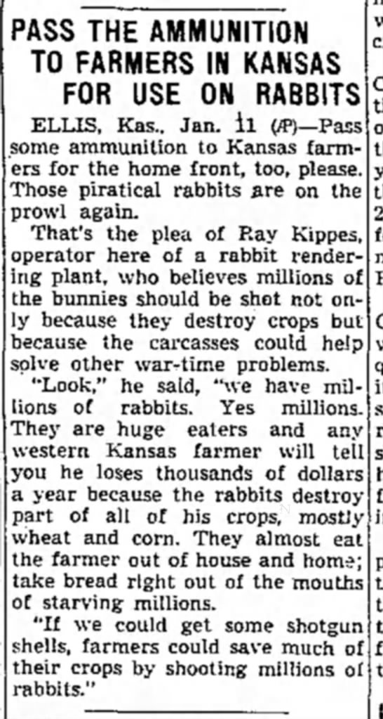 crop destruction - PASS THE AMMUNITION TO FARMERS IN KANSAS FOR...