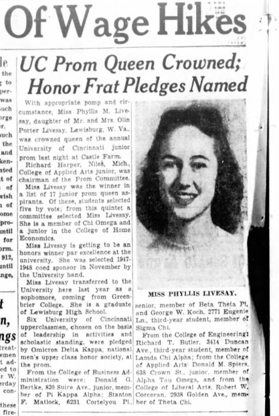 1947-02-22 Koch, Geo W honor frat from college of business administration - Of Wage Hikes the to personal waa such such the...