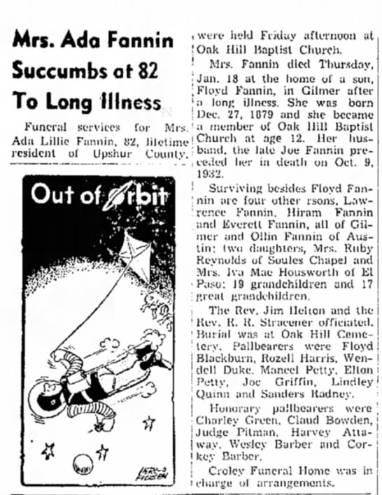 Gilmer Mirror 25 Jan 1962 p4