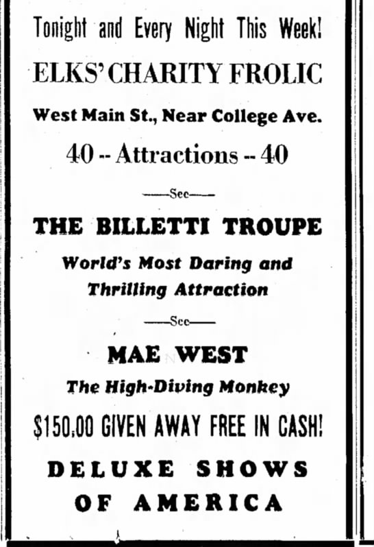 Billetti April 27, 1937, The Bee -Danville, VA