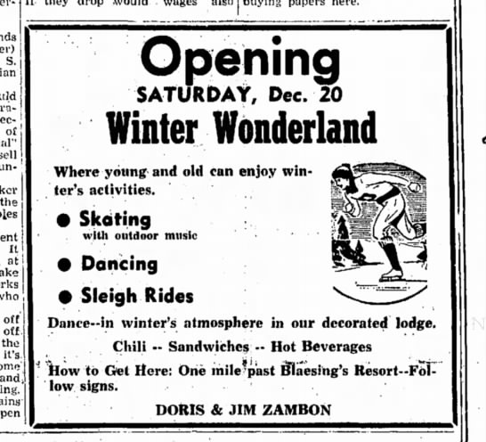 Winter Wonderland - S. ration of sell un- the It at j who , off...
