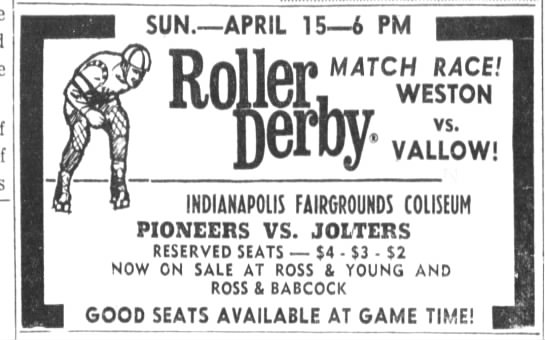 04-15-73 Indianapolis, IN - r sun. APRIL 156 PM ler Derby- Derby- MATCH...