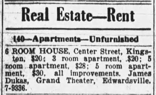 House for rent 1942 - Real EstateRent 40 Apartment Unfurnished 6 ROOM...