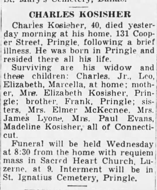 history of 131 cooper st - CHARLES KOSISHER Charles Kosieher, 40, died...